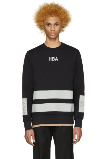 Hood by Air - Black & Grey Jock Boxes Pullover