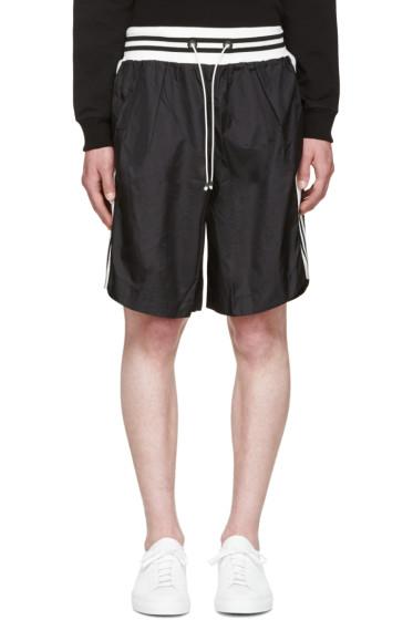 Giuliano Fujiwara - Black Striped Basket Shorts