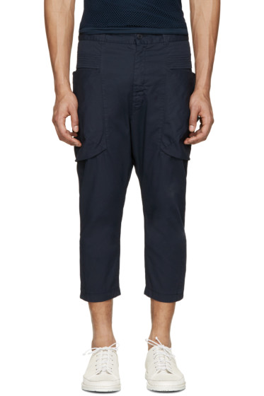 Alexandre Plokhov - Navy Scoop Pocket Trousers