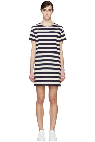 NLST - Navy & Cream Striped T-Shirt Dress