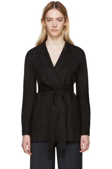 Studio Nicholson - Black Linen Flamino Jacket