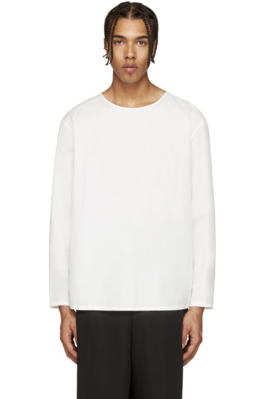 Lemaire - White Wool T-Shirt