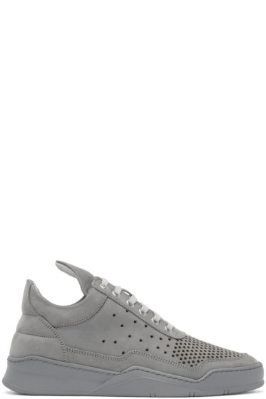 Filling Pieces - Grey Gradient Perforated Sneakers