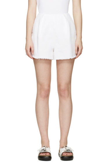 Edit - White Denim Shorts