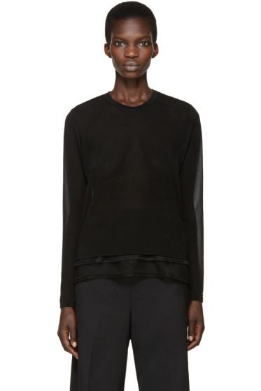 Comme des Garçons Comme des Garçons - Black Jersey & Mesh T-Shirt