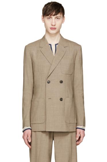 Toga Virilis - Brown Wool Double-Breasted Blazer