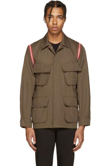 99% IS - Khaki Zip Sleeve Jacket