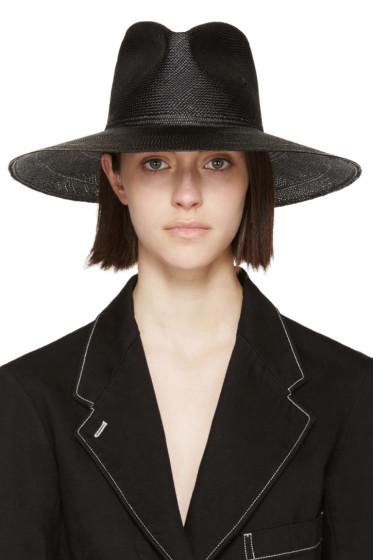 Clyde - Black Straw Pinch Panama Hat