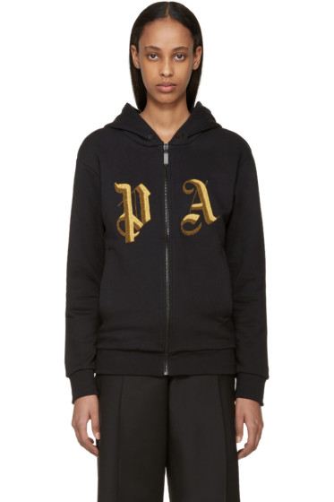 Palm Angels - Black Embroidered Logo Hoodie