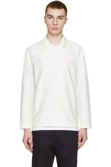 Sunnei - White Twill Half-Zip Jacket