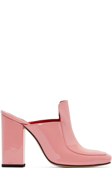 Dorateymur - SSENSE Exclusive Pink Patent Leather Munise Heels