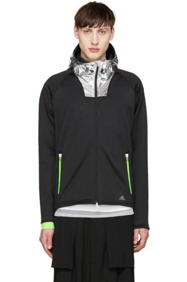 Adidas x Kolor - Black & Silver Tech Hoodie