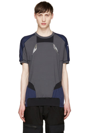 Adidas x Kolor - Tricolor Panelled T-Shirt