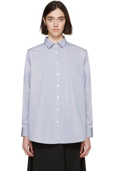 Totême - Blue & White Striped Capri Shirt