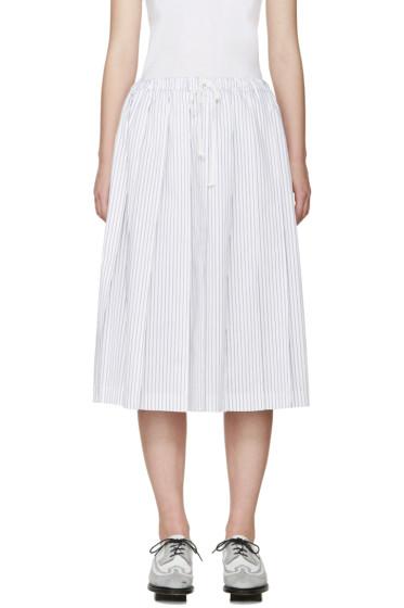 Tricot Comme des Garçons - White & Blue Pleated Skirt