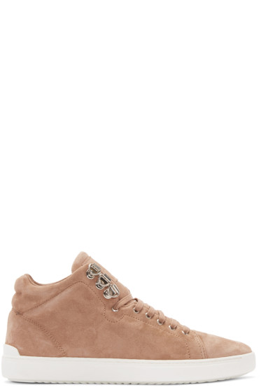 Rag & Bone - Brown Suede Kent High- Top Sneakers