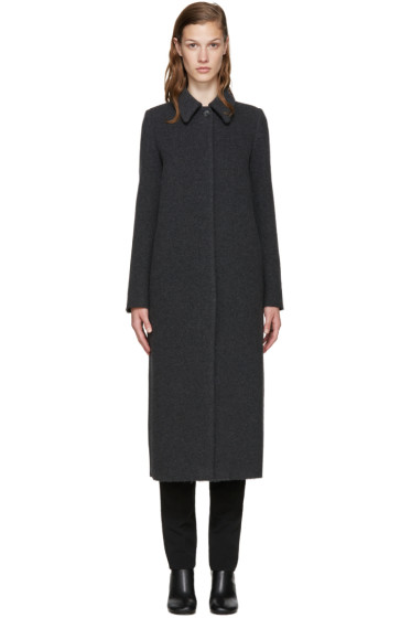 MM6 Maison Margiela - Grey Wool Long Coat