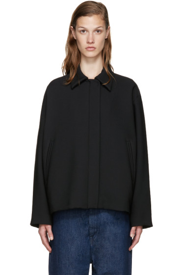 MM6 Maison Margiela - Black Cropped Jacket