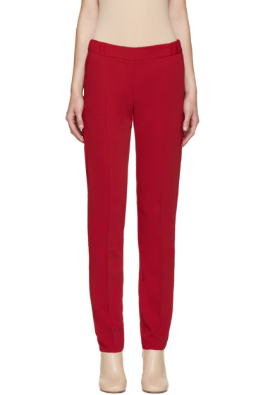 MM6 Maison Margiela - Red Fluid Trousers