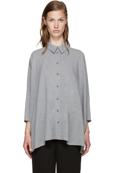 MM6 Maison Margiela - Grey Canvas Shirt