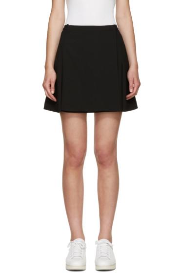 T by Alexander Wang - Black Flared Wrap Miniskirt