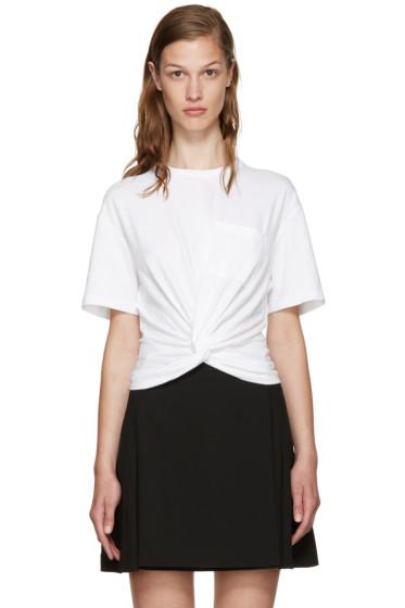 T by Alexander Wang - White Jersey Twist T-Shirt