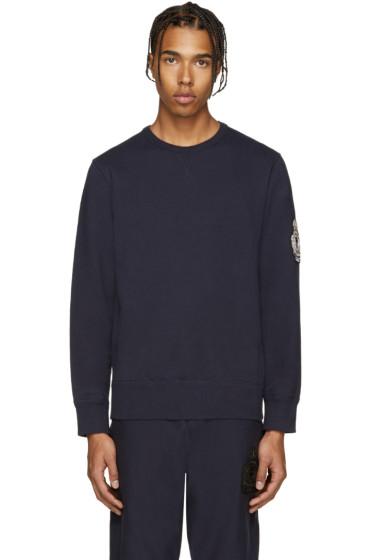 Alexander McQueen - Navy Embroidered Sweatshirt