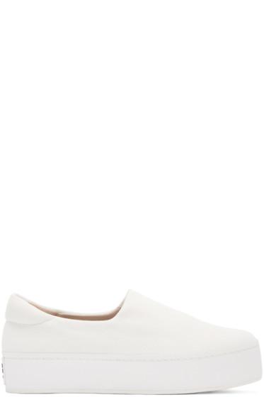 Opening Ceremony - White Platform Slip-On Sneakers
