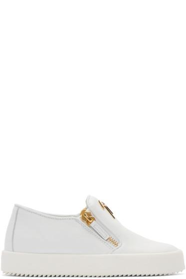 Giuseppe Zanotti - White London Slip-On Sneakers