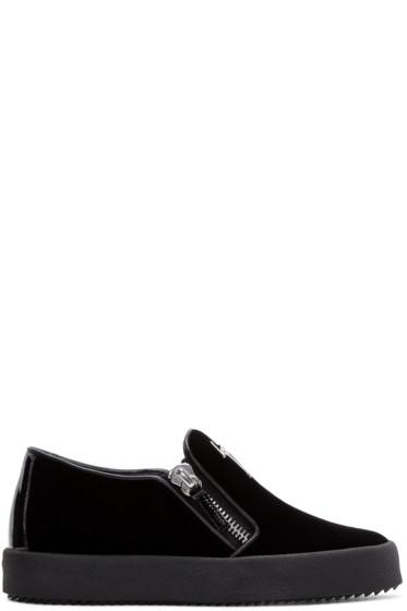 Giuseppe Zanotti - Black Velvet Veronica Sneakers