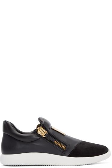 Giuseppe Zanotti - Black Leather Singles Sneakers