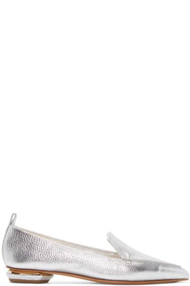 Nicholas Kirkwood - Silver Leather Beya Loafers
