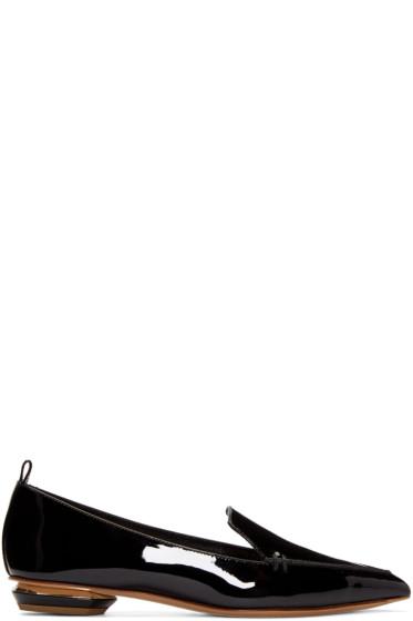 Nicholas Kirkwood - Black Patent Leather Beya Loafers