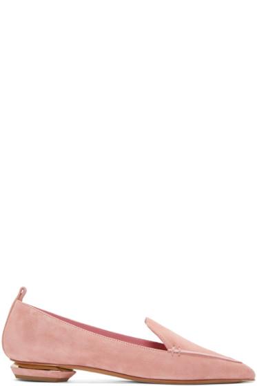 Nicholas Kirkwood - Pink Suede Beya Loafers