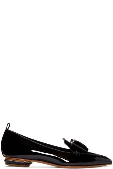 Nicholas Kirkwood - Black Patent Leather Bow Beya Loafers