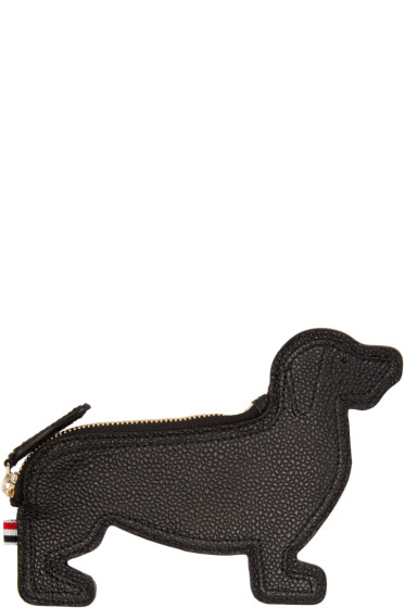 Thom Browne - Black Leather Hector Pouch