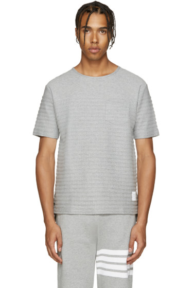 Thom Browne - Grey Rope Stitched T-Shirt