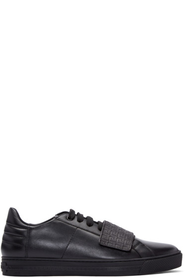 Versace - Black Greek Key Sneakers