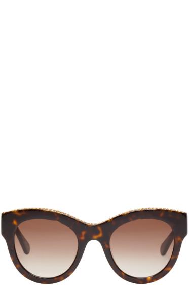 Stella McCartney - Tortoiseshell Cat-Eye Chain Sunglasses