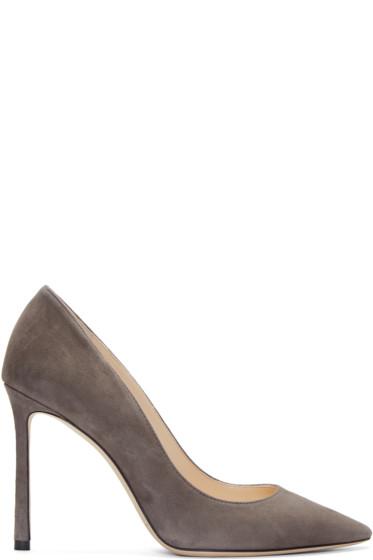 Jimmy Choo - Grey Suede Romy Heels