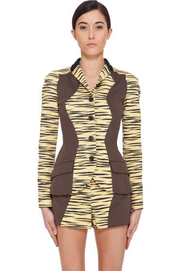 Proenza Schouler - Yellow Tiger Print Jacket