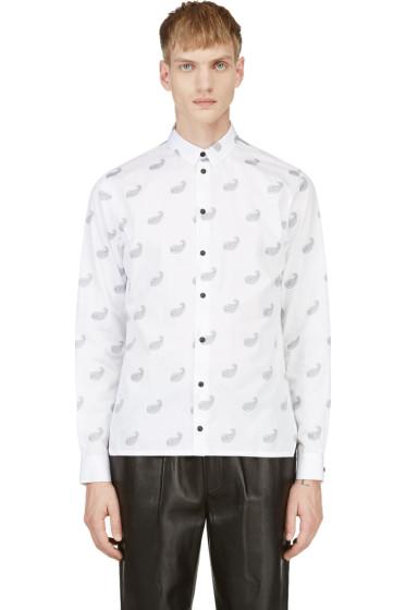 Krisvanassche - White Paisley Pattern Button Down Shirt