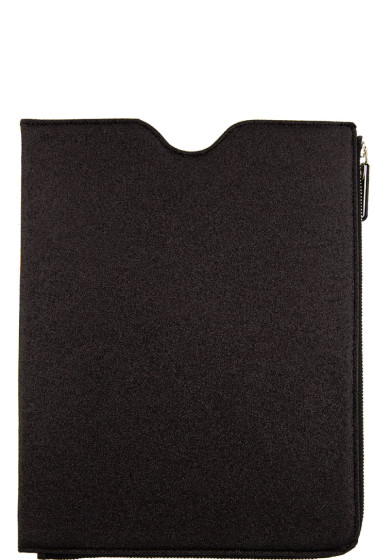 Maison Margiela - SSENSE Exclusive Black Glitter iPad Case