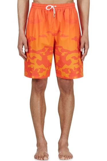 Katie Eary - Orange Sunset Camo Swim Shorts