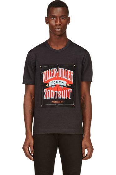 "Juun.J - Grey ""Killer Diller"" Print T-Shirt"