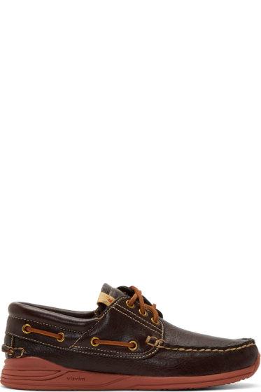 Visvim - Brown Americana Deck-Folk Shoes