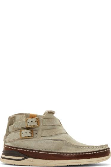 Visvim - Grey Suede Mesa Moc-Folk Boat Shoes