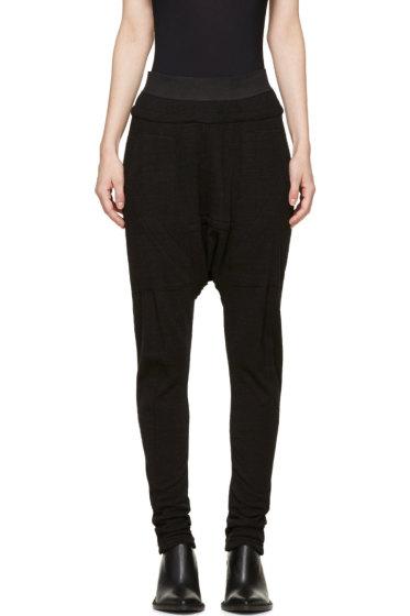 MA Julius - Black Slub Knit Sarouel Trousers