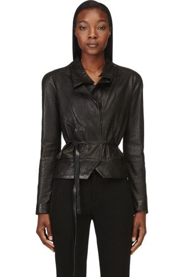 Isabel Marant - Black Washed Lambskin Barney Jacket