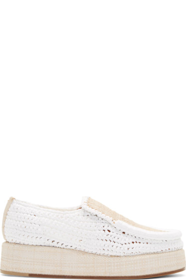 Acne Studios - White Braided Raffia Laurie Loafers